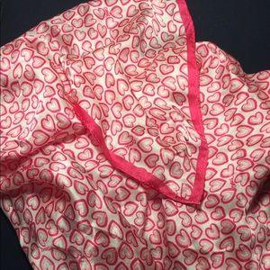 Silk square Coach scarf hearts